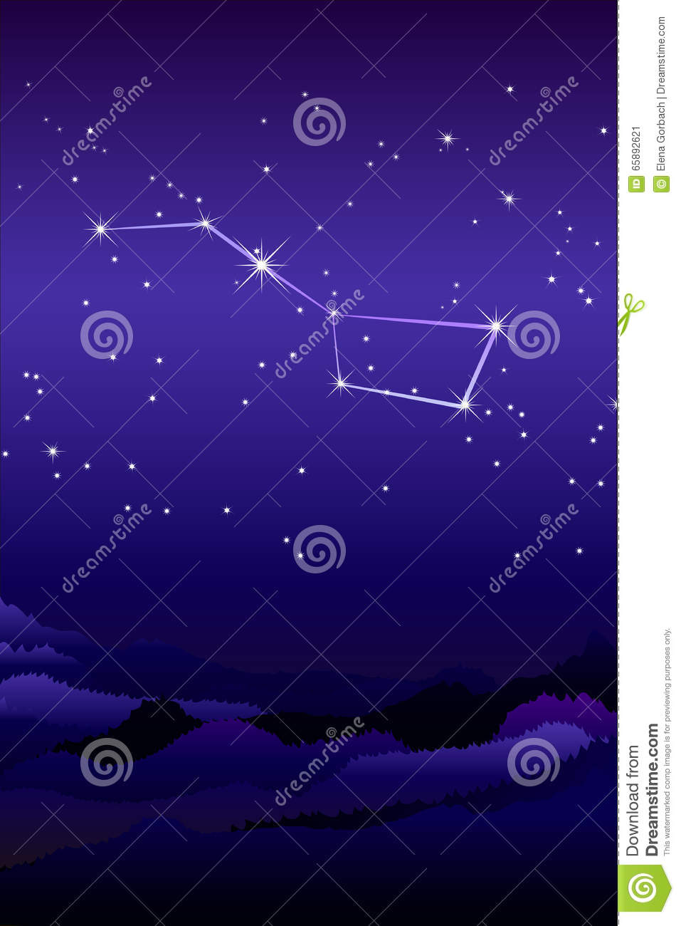 Ursa Major Constellation Or The Greater Or Larger She.
