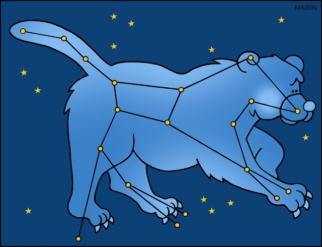 Free Outer Space Clip Art by Phillip Martin, Great Bear Constellation.