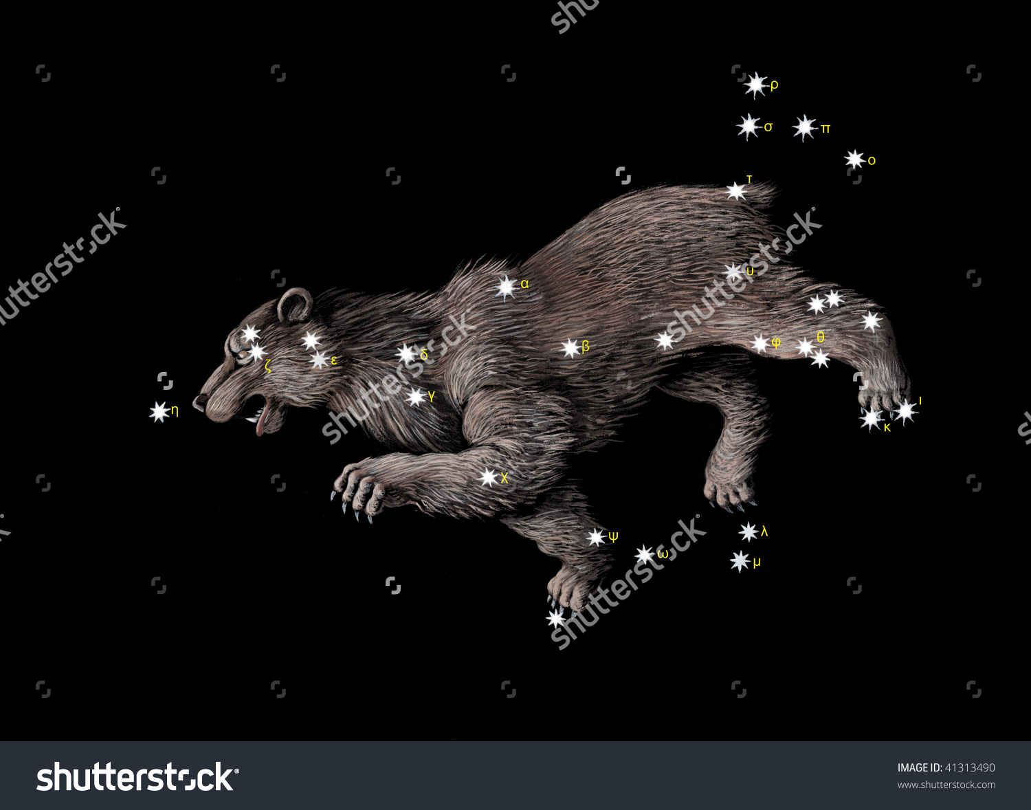 Constellation Great Bear Ursa Major Stock Illustration 41313490.