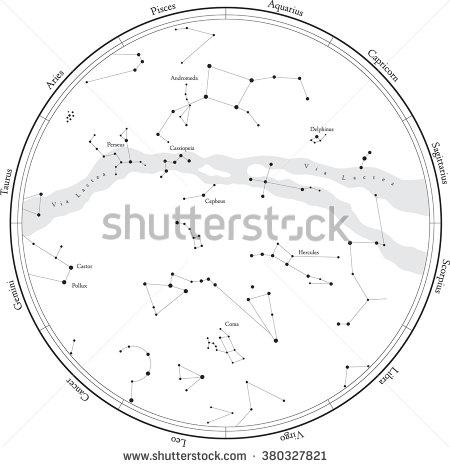 Constellation Map Stock Photos, Royalty.