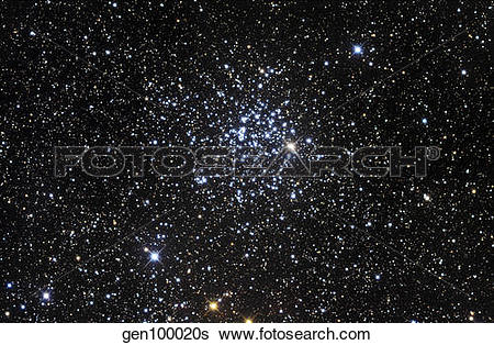 Stock Images of Messier 52, also known as NGC 7654, is an open.