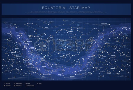 High Detailed Star Map With Names Of Stars Contellations And.
