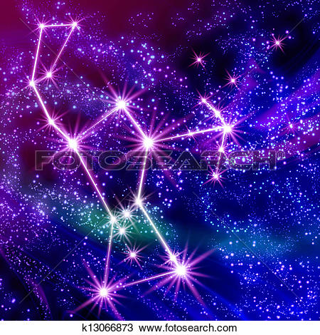 Drawing of Constellation Orion k13066873.