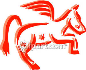 The_Constellation_Pegasus_Royalty_Free_Clipart_Picture_081029.