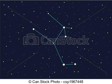 Stock Illustration of constellation.