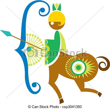 Vector Clipart of sagittarius constellation. csp3041350.