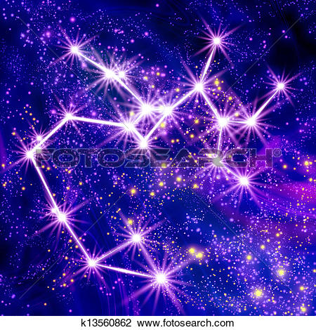 Clip Art of Constellation Sagittarius k13560862.