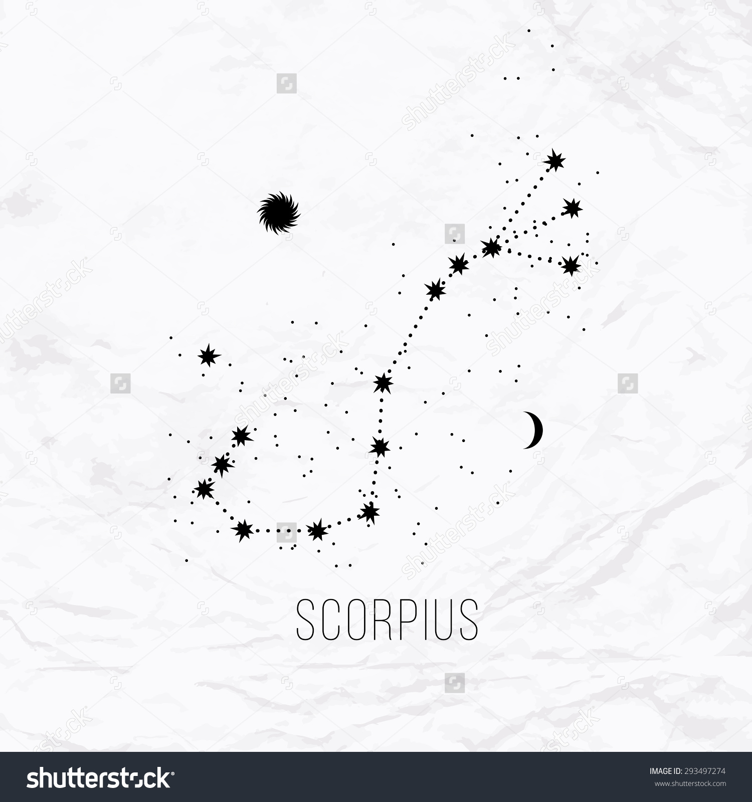 scorpio constellation tattoo.