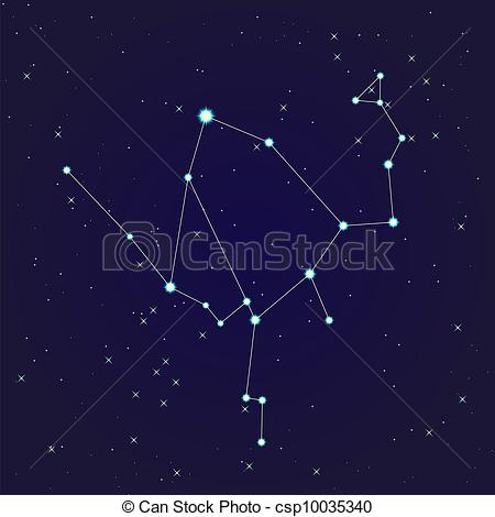 EPS Vector of Ophiuchus constellation.