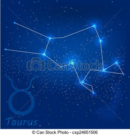 Vector Clipart of constellation taurus.