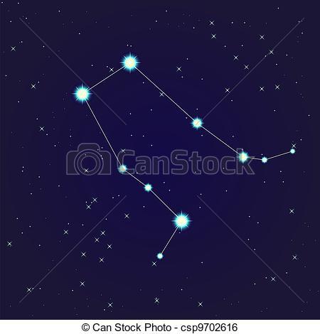 Clip Art Vector of Gemini constellation.