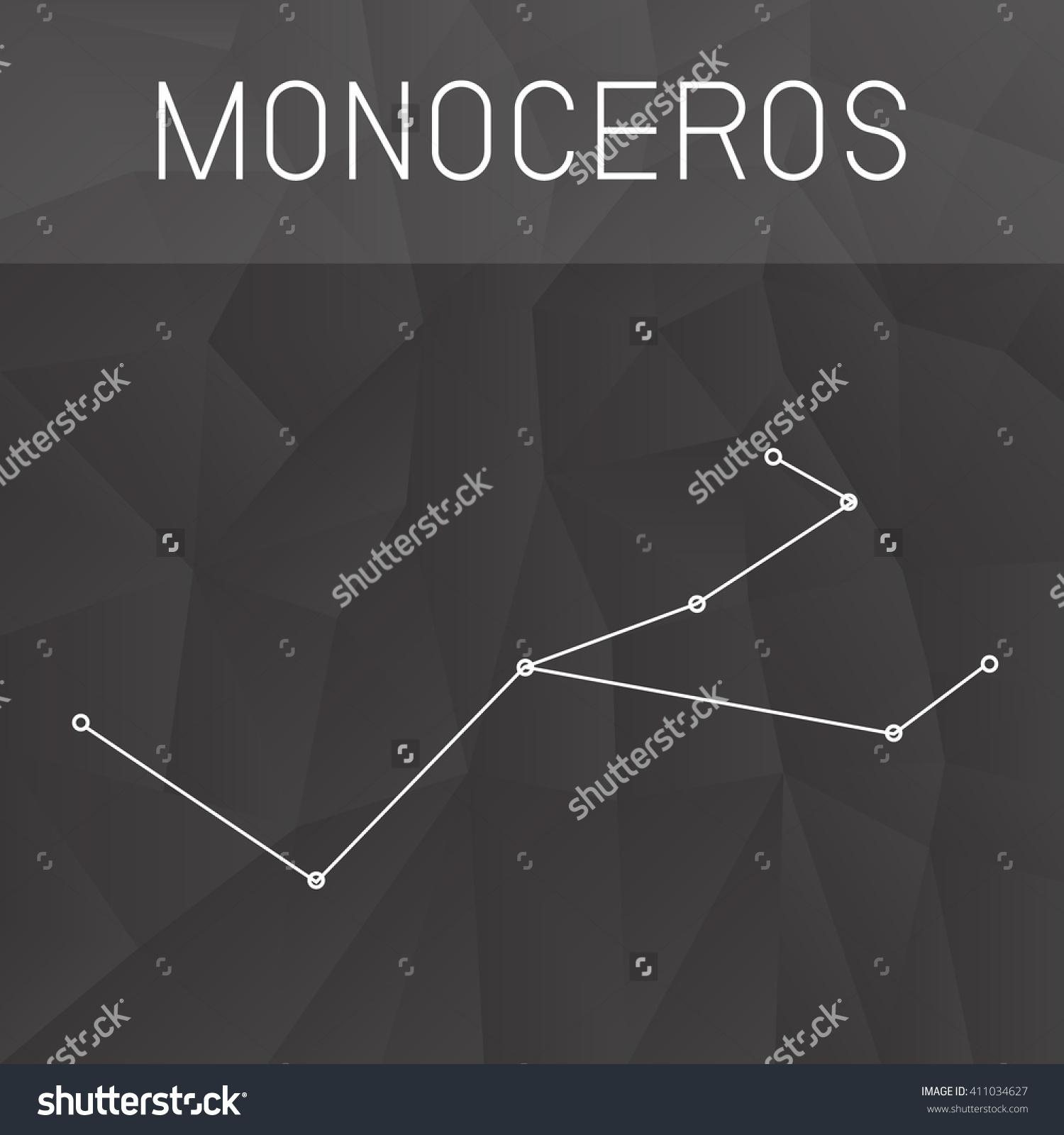 Unicorn Constellation Stock Vector 411034627.