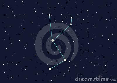 Constellation Unicorn Stock Images.