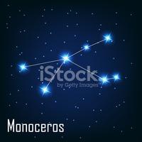 "Constellation "" Monoceros"" Star IN The Night Vector Ill stock."