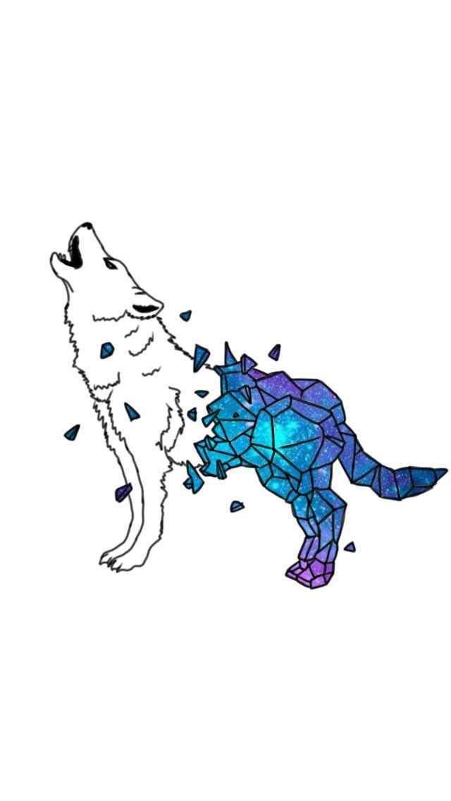 Geometric galaxy wolf tattoo design based off the actual Lupus.