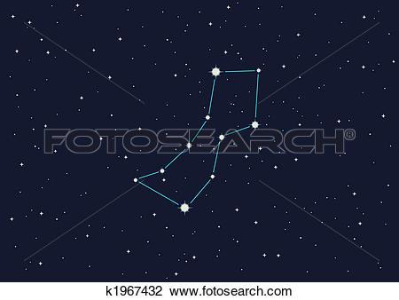 """Clip Art of constellation """"Wolf"""" k1967432."""