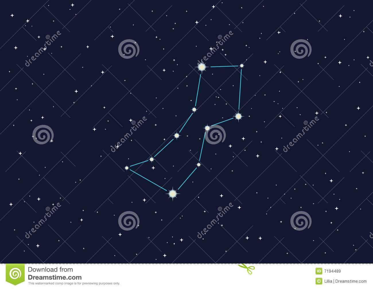 Constellation Wolf Royalty Free Stock Images.