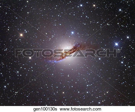 Stock Images of NGC 5128, a radio galaxy in the constellation.