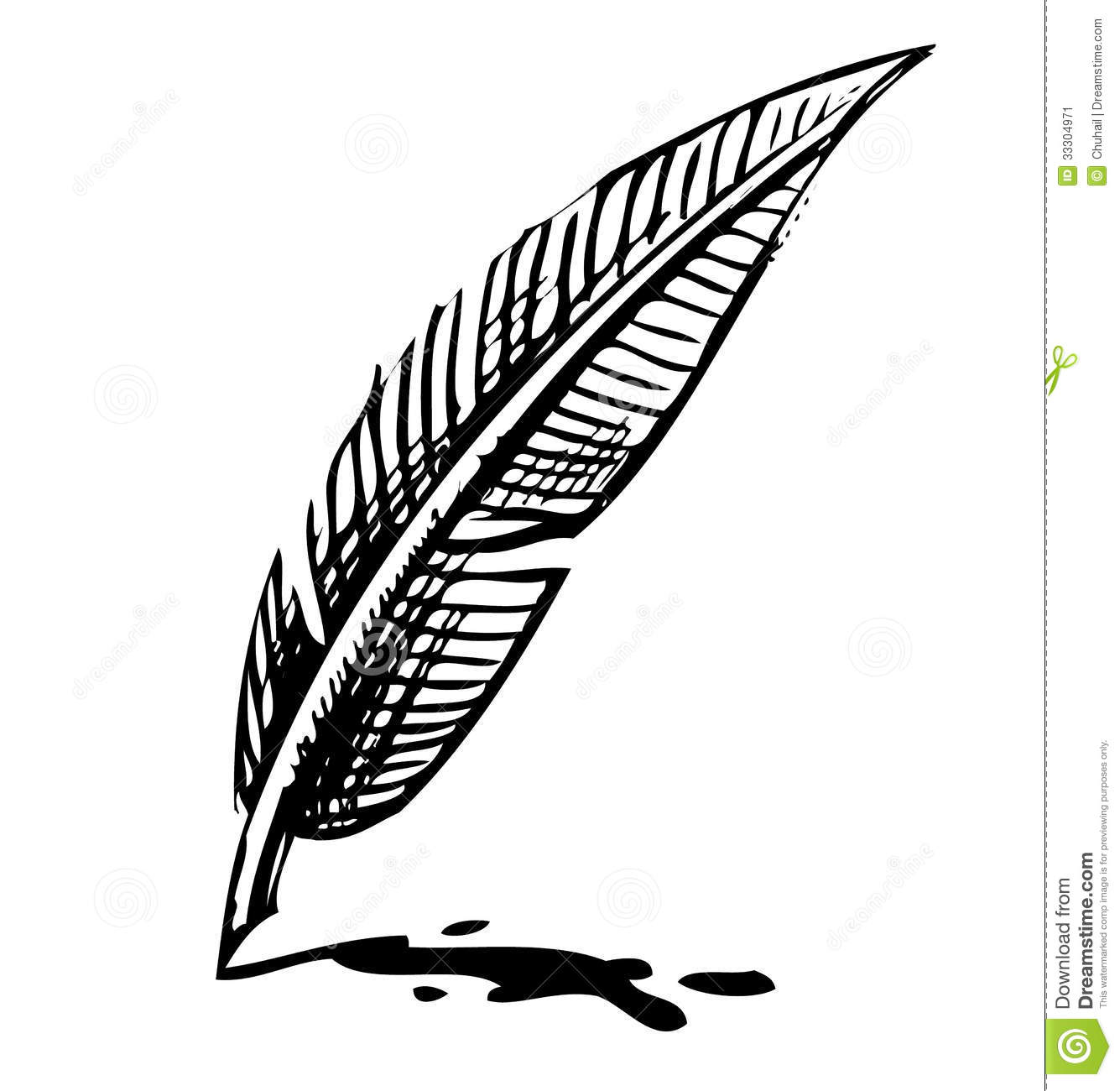 Quill writing clipart.