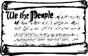 Constitution scroll clip art.