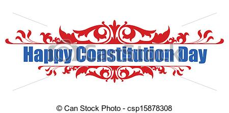 Happy Constitution Day Design Clipart.