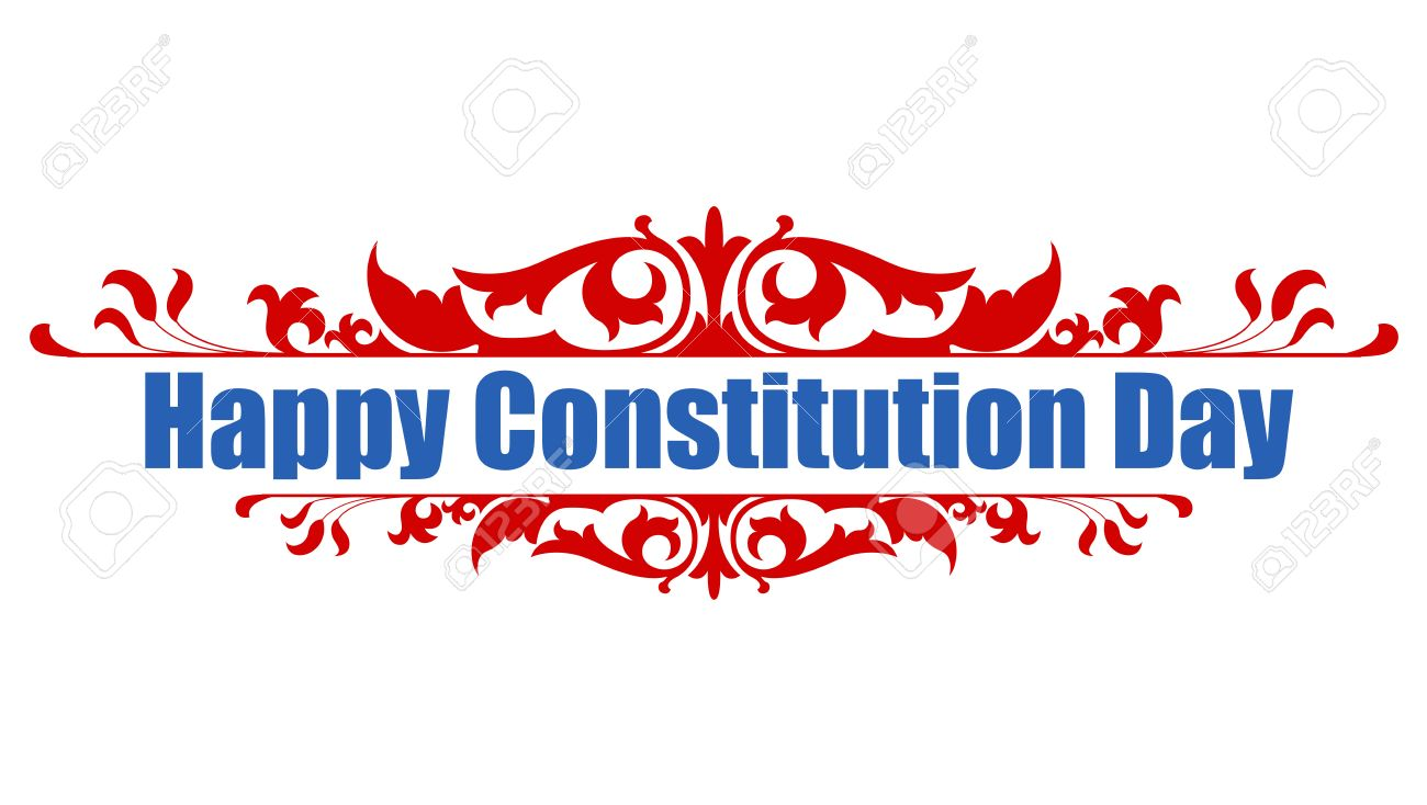 Happy Constitution Day Vector Illustration.