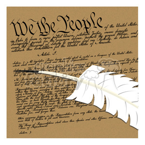 we the people illustration clipart. Royalty.