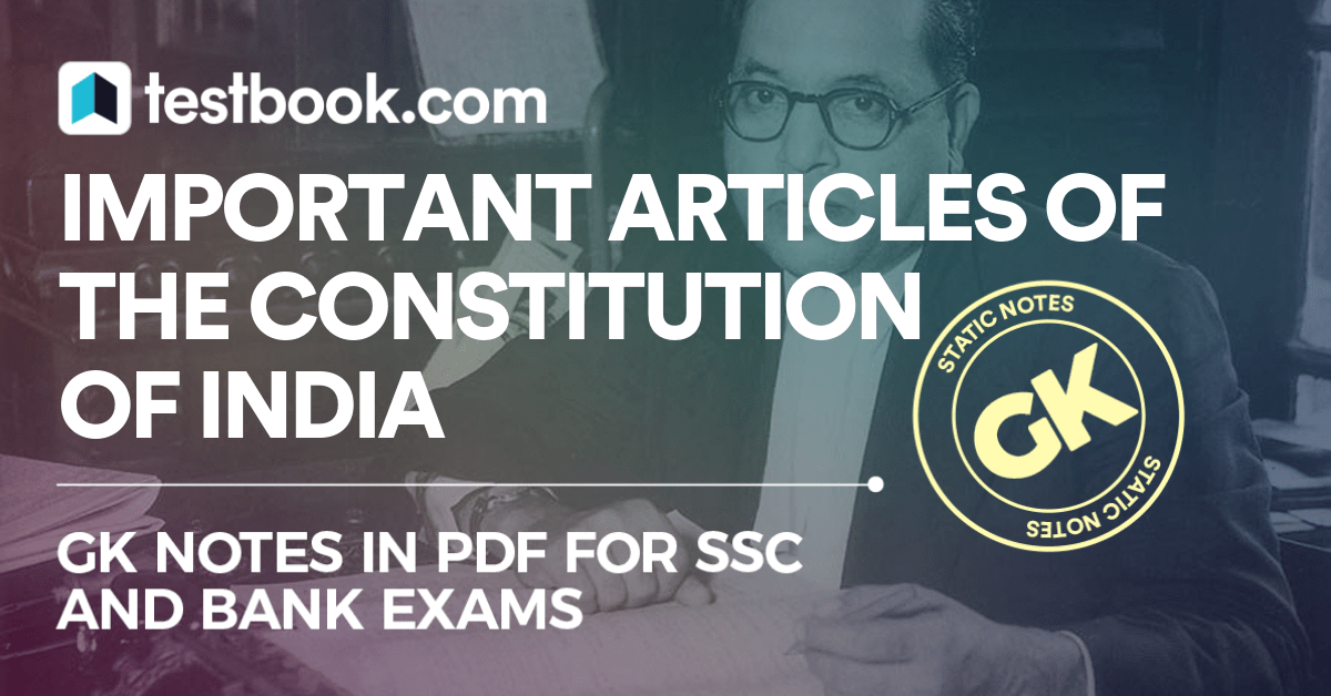 Articles of the Constitution of India 2019.