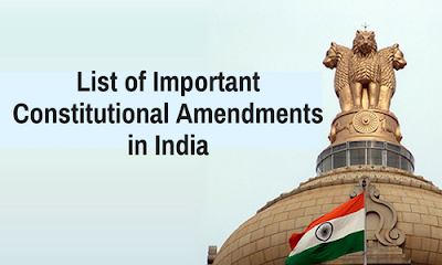 Complete List of Constitutional Amendments in India.