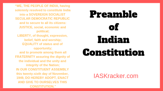 Know All About Preamble of Indian Constitution (PDF Download).