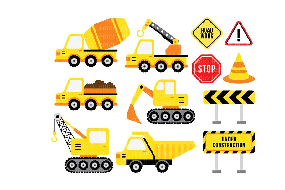 Construction Clipart (LES.CL25A).