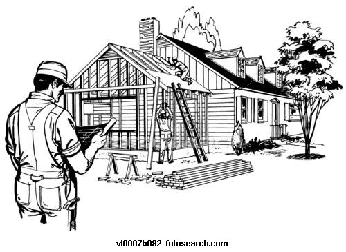 Construction house clipart.