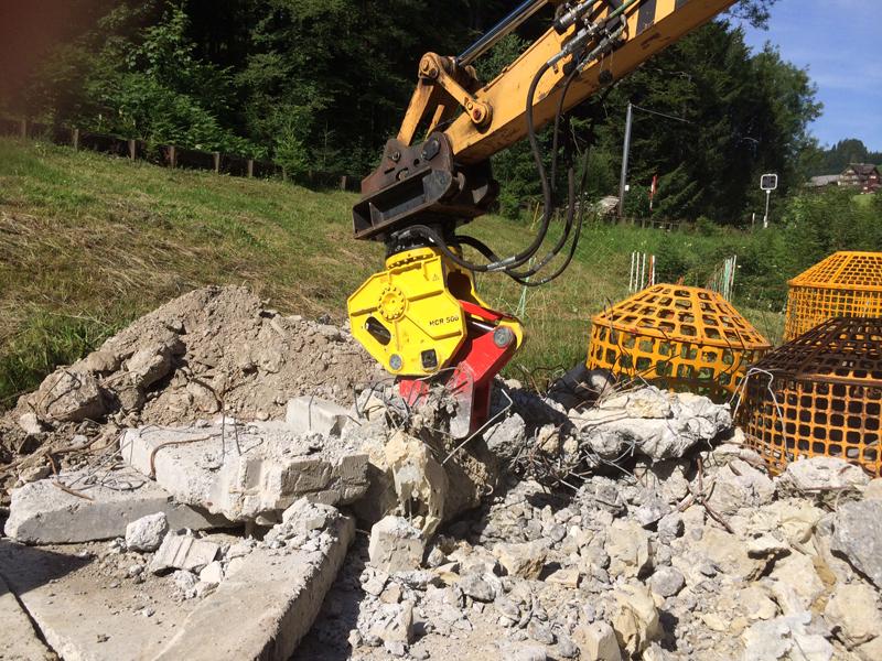 Concrete crushers / demolition shears HCR.