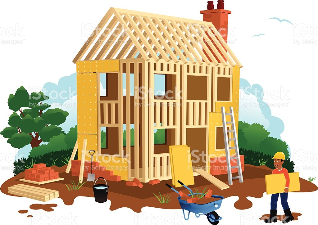 Timber framed houses clipart clipground for Build a house online free