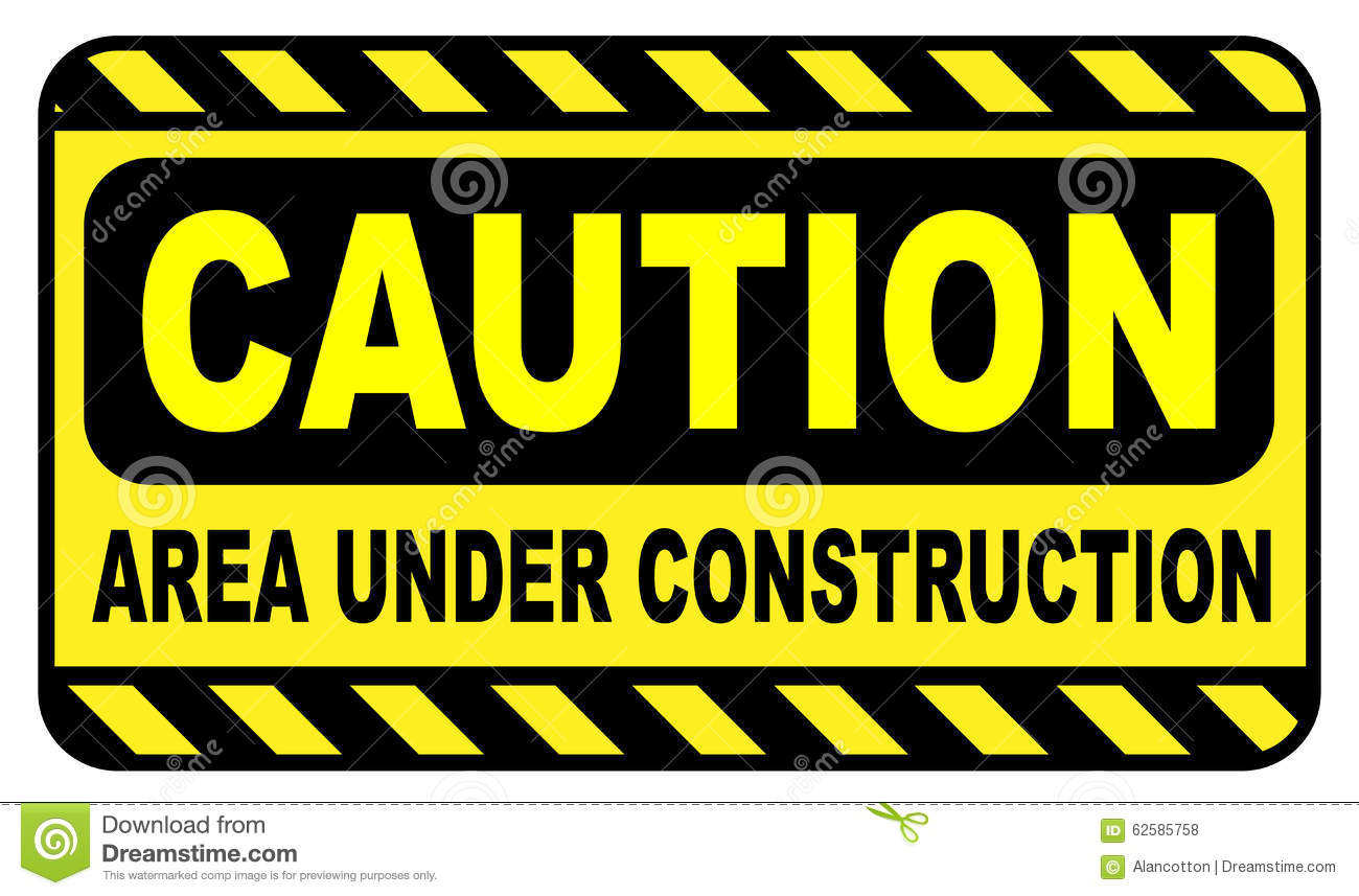 Caution Area Under Construction Stock Illustration