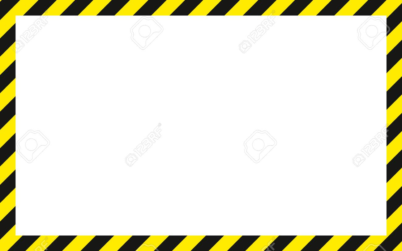 warning striped rectangular background, yellow and black stripes...