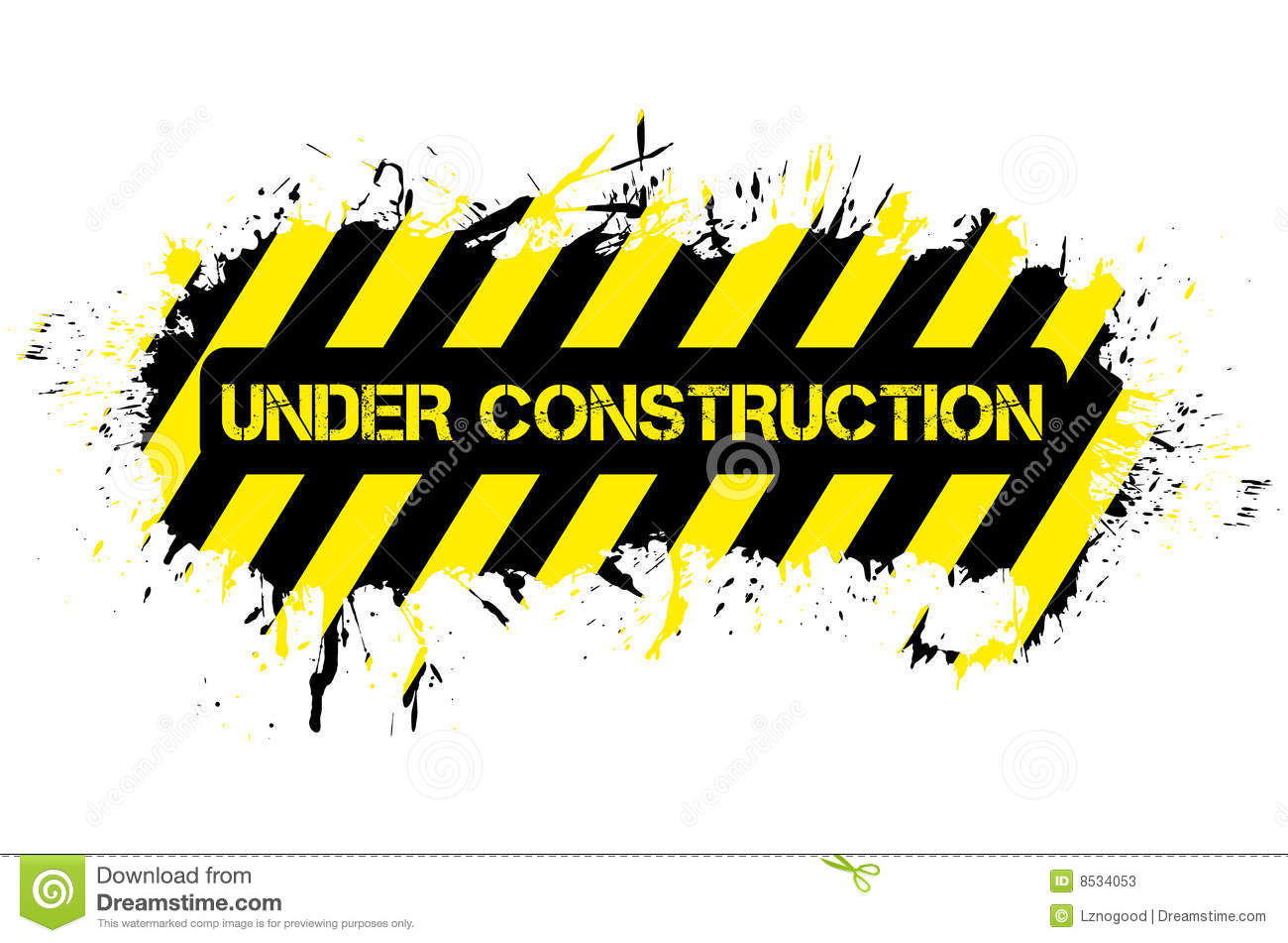 Grunge under construction stock vector. Illustration of estate.