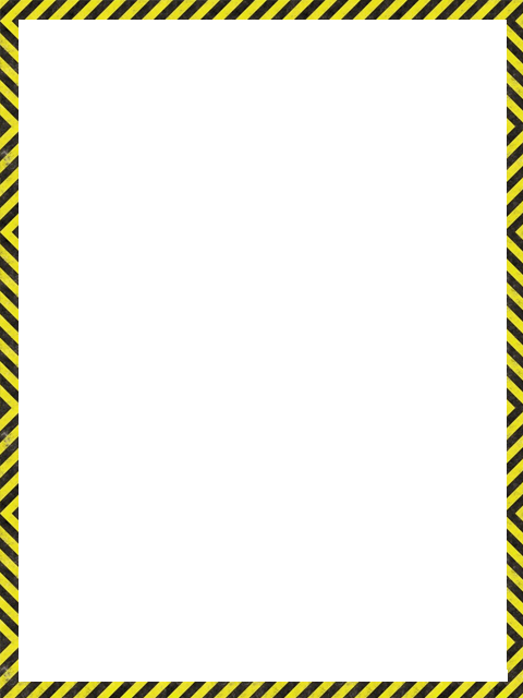caution border template.