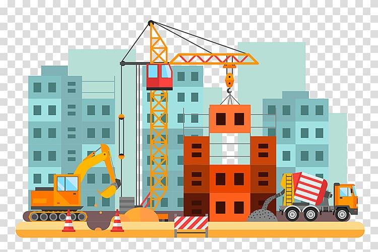 Building Construction transparent background PNG cliparts.