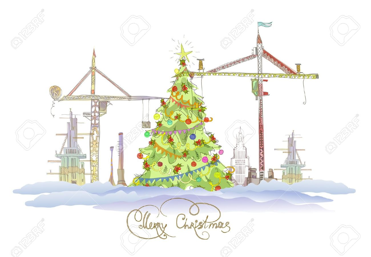 Showing post & media for Cartoon christmas tree construction.