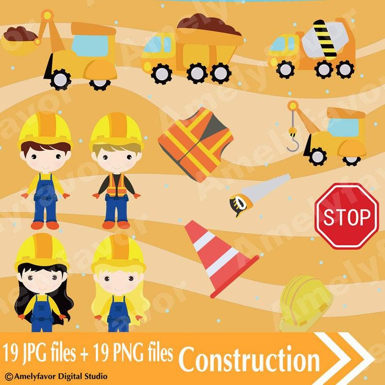 Construction Clipart PNG Images Digital Superhero Clipart Construction  Instant Download Graphics transparent background Commercial Use.