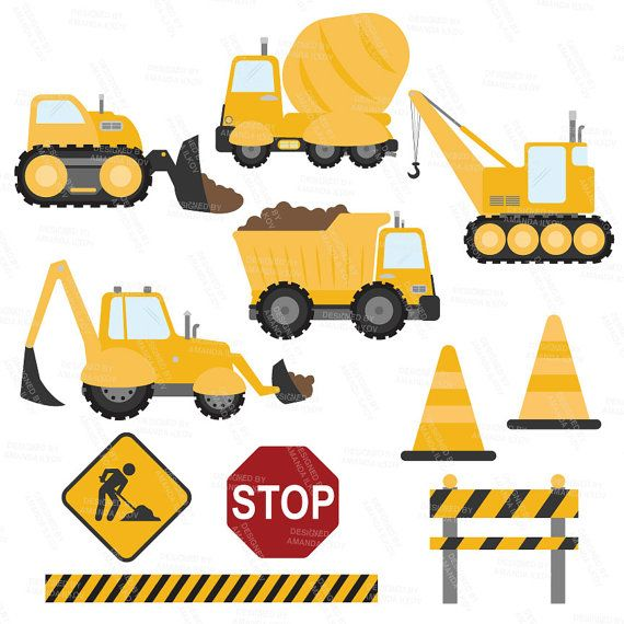 Premium Yellow Construction Clipart.