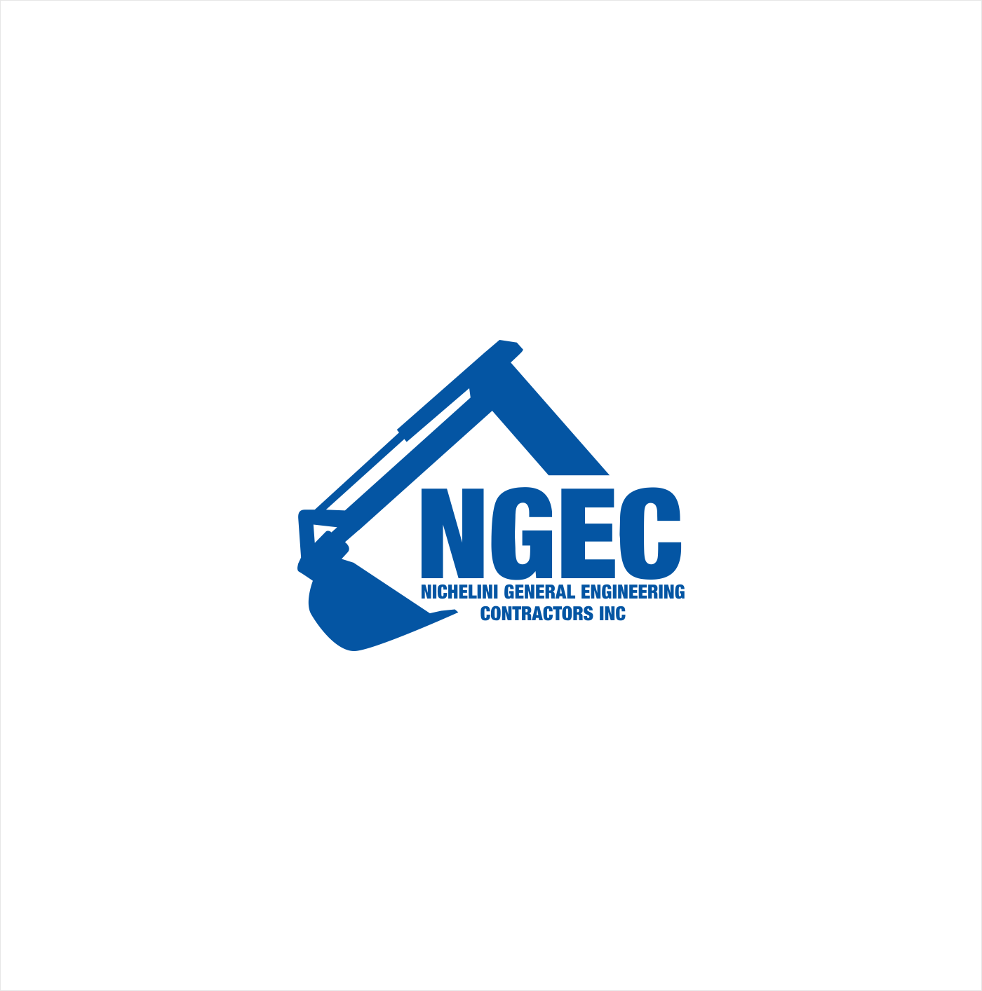 Masculine, Bold, Construction Company Logo Design for Nichelini.
