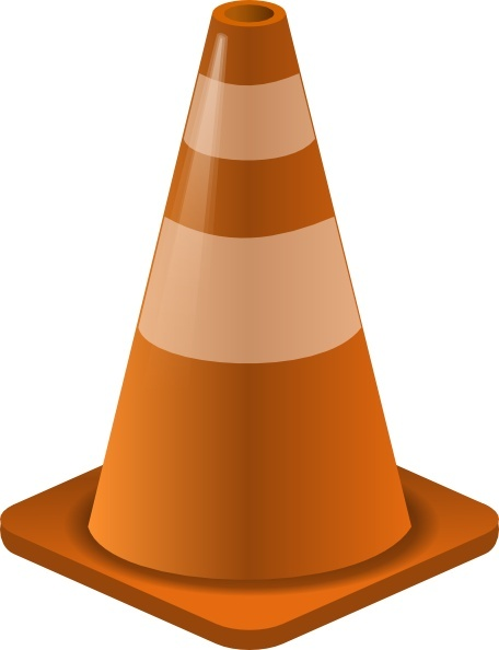 Construction Cone clip art Free vector in Open office drawing svg.