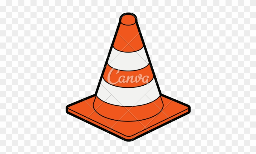 Traffic Cone Under Construction Icon.