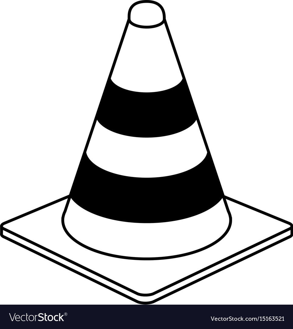 Traffic cone under construction related icon image.