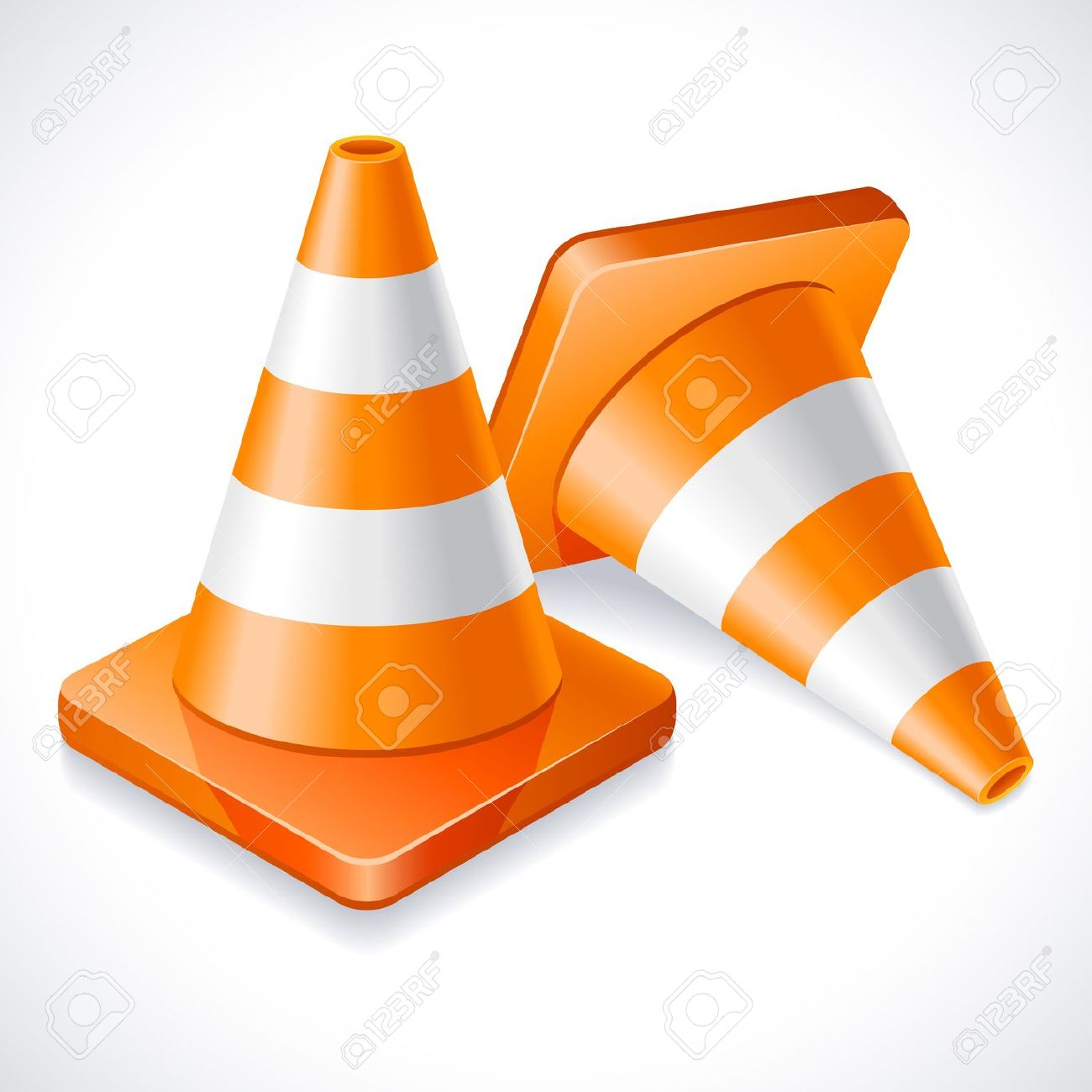Orange road cone clipart.