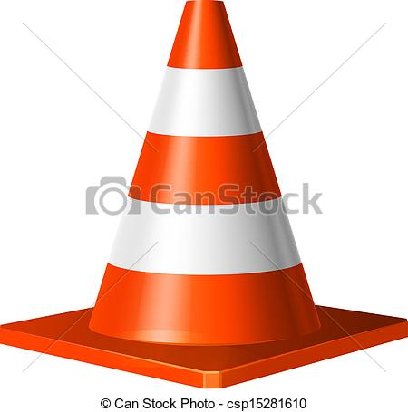 Construction cone clip art.