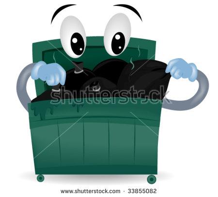Garbage Dumpster Stock Photos, Royalty.