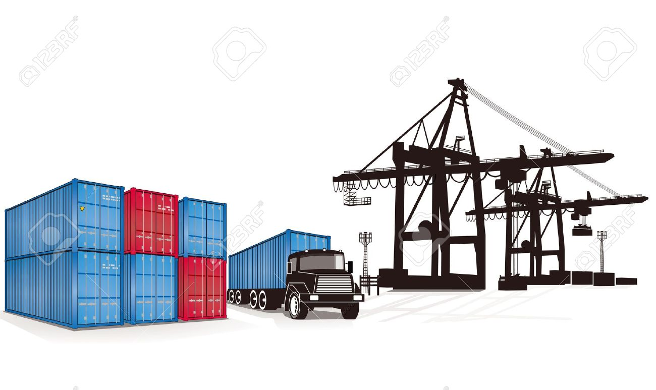 Container Cargo Royalty Free Cliparts, Vectors, And Stock.